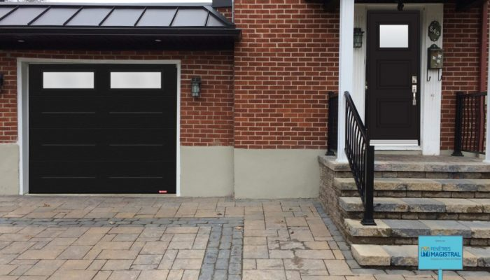 Garage Door and front Door with glass